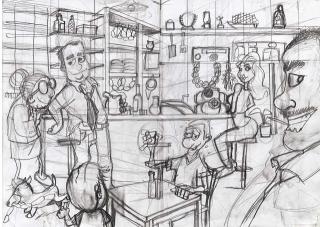 Estudo de ilustração no lápis