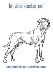 Ilustração do cão Tosa Inu