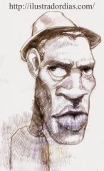 Caricatura de Seu Jorge