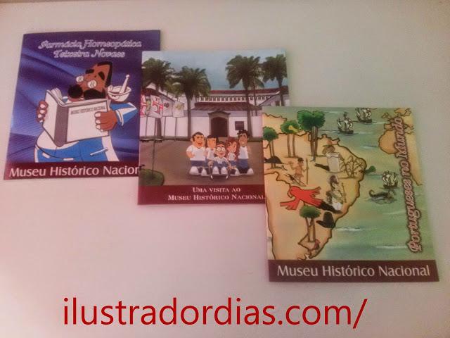 Ilustrações para capa de livro do Museu Histório Nacional