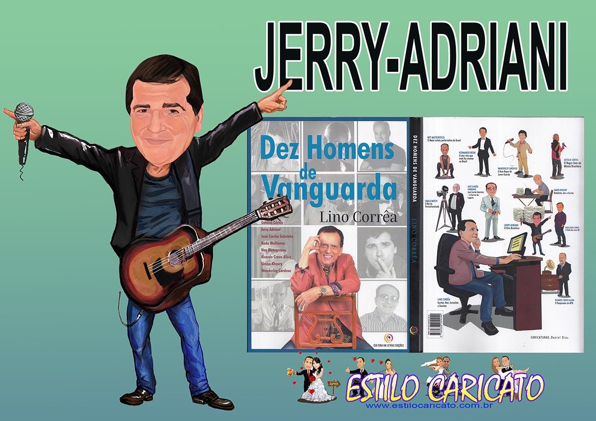 Caricatura de Jerry Adriani para Livro
