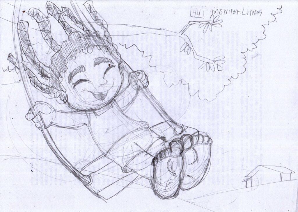 Esçoço de ilustração infantil