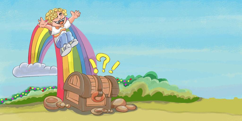 Tesouro no Final do Arco Íris - Ilustração infantil para livro
