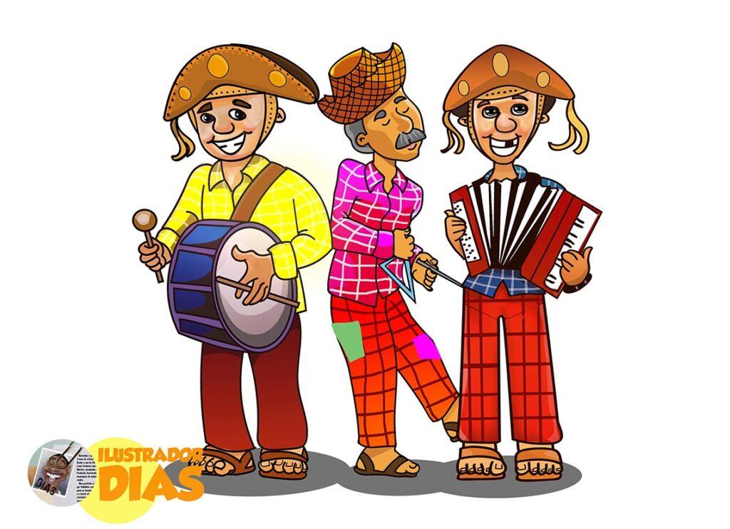 Festa Junina - Ilustração de Banda