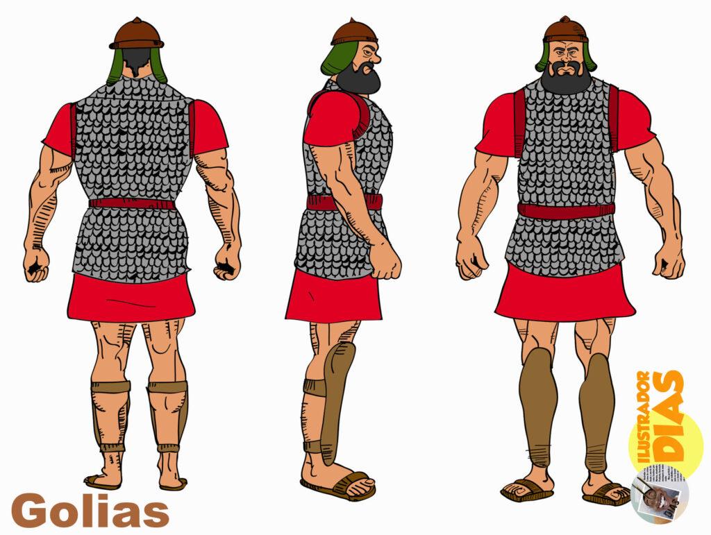 Davi e Golias - Ilustração