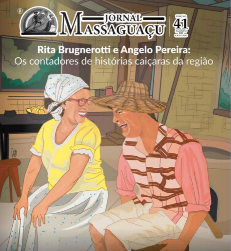 Ilustração de capa de jornal - Contadores de História