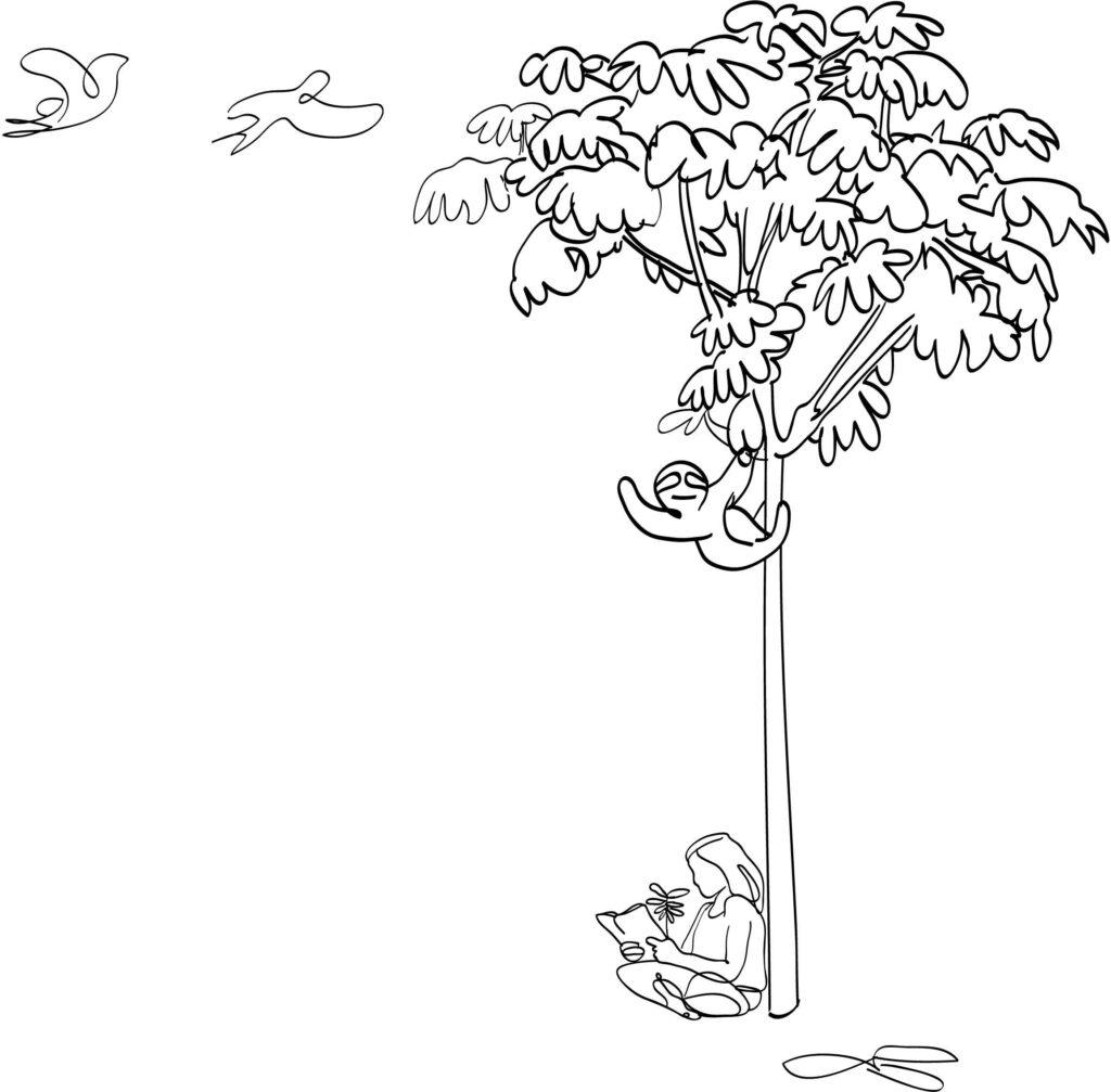 Dia da arvore - ilustração
