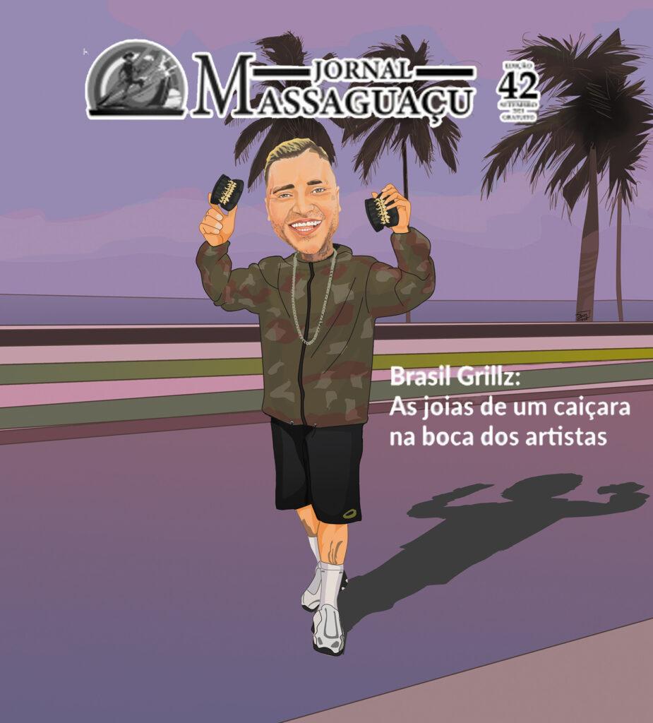 Grillz-Ilustração de Capa do Jornal Massaguaçu